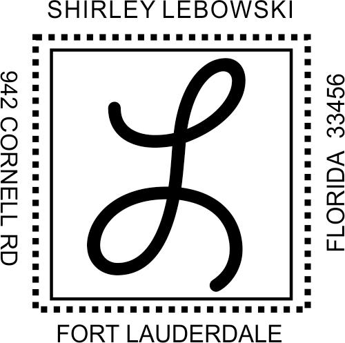 Center Mongram Address Stamp - Style S1