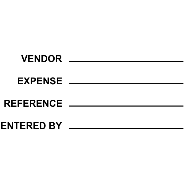 vendor: info Expense: info Reference: info Entered by: info