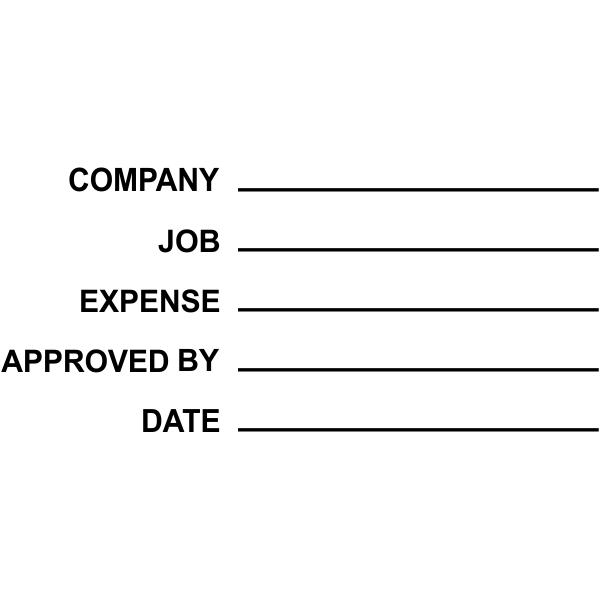 Company:info Job:info Expense:info Approved by:info Date:info