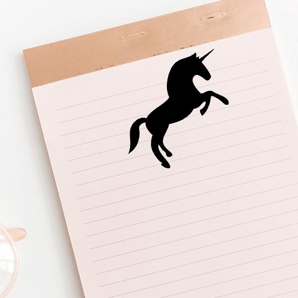 Rearing Unicorn Stamp Imprint Example