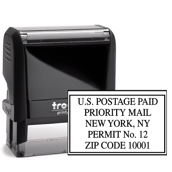 US Postage Paid Priority Mail Stamp