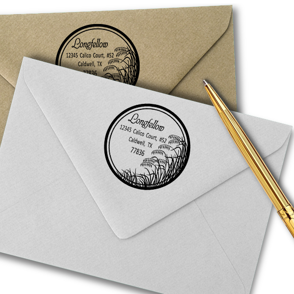 Salt Marsh Grass Return Address Stamp Imprint Example