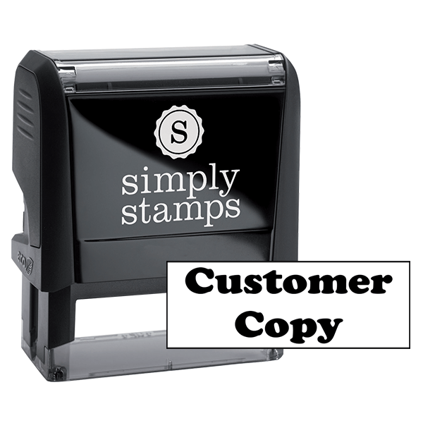 Customer Copy Office Rubber Stamp