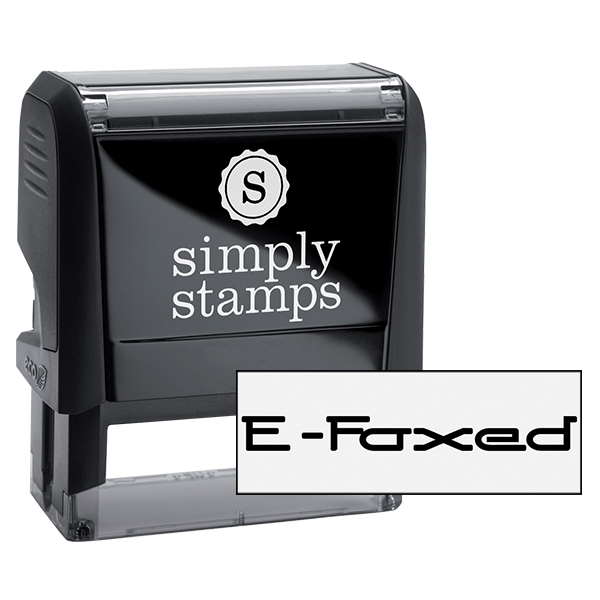 E-Faxed Office Rubber Stamp