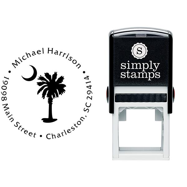 Palmetto Moon Address Stamp Body and Design