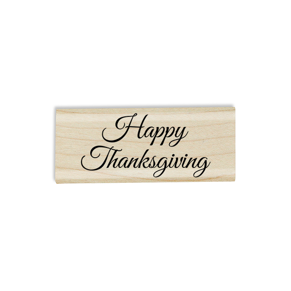 Happy Thanksgiving Craft Stamp Body and Design