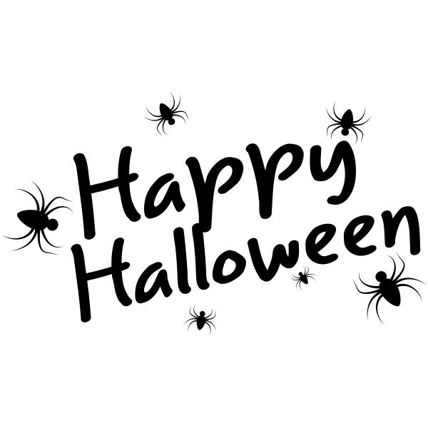 Spiders Happy Halloween Craft Stamp