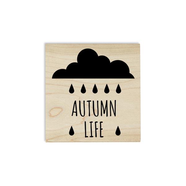 Autumn Life Rain Cloud Craft Stamp Body and Design