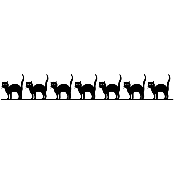 Line of Black Cats Craft Stamp
