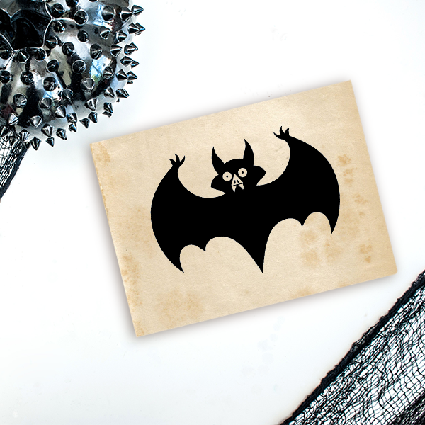 Vampire Bat Craft Stamp Imprint Example