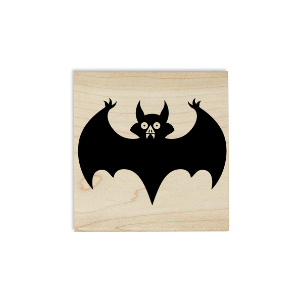 Vampire Bat Craft Stamp Body and Design