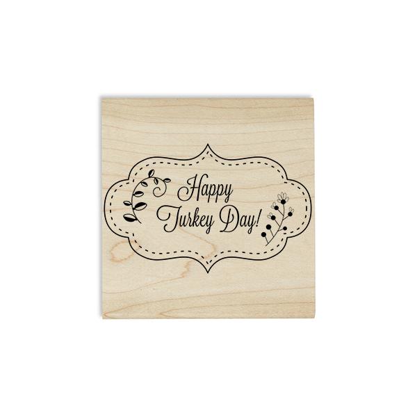 Happy Turkey Day! Stitched Craft Stamp Body and Design
