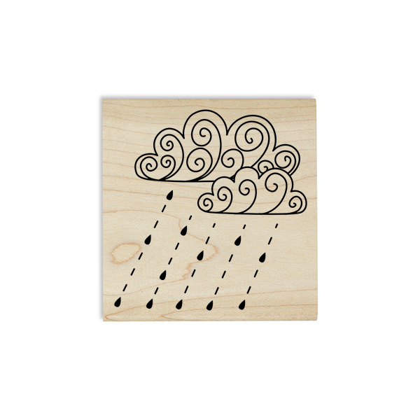 Fall Rain Storm Craft Stamp Body and Design