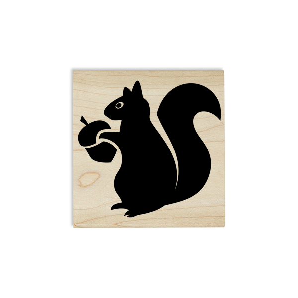 Squirrel with Acorn Craft Stamp Body and Design