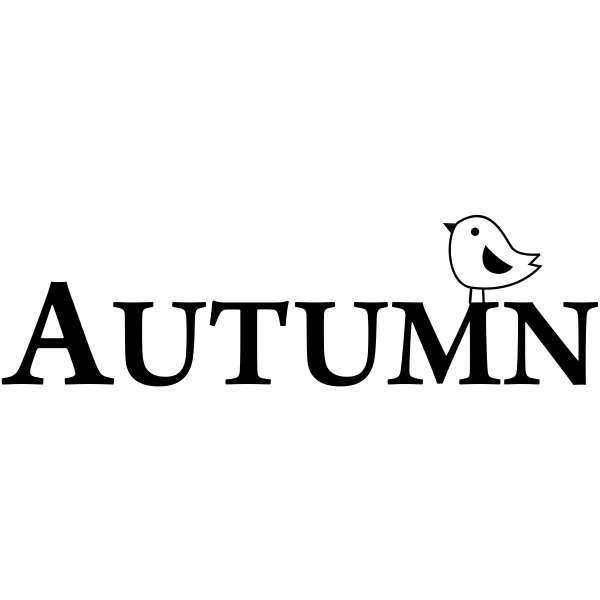 Autumn Birdie Craft Stamp