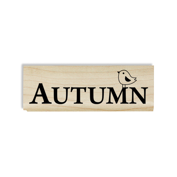 Autumn Birdie Craft Stamp Body and Design