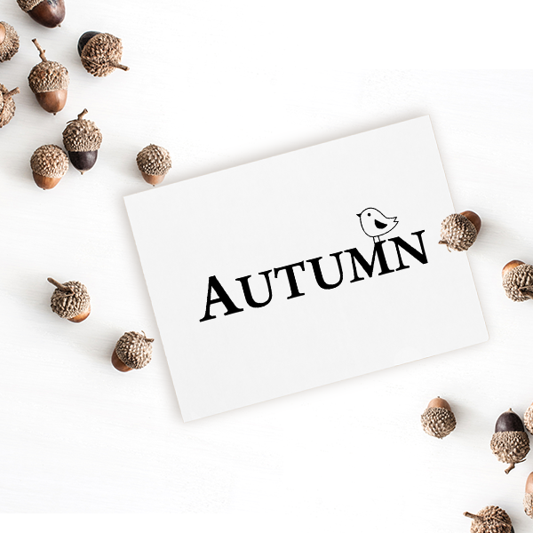 Autumn Birdie Craft Stamp Imprint Example
