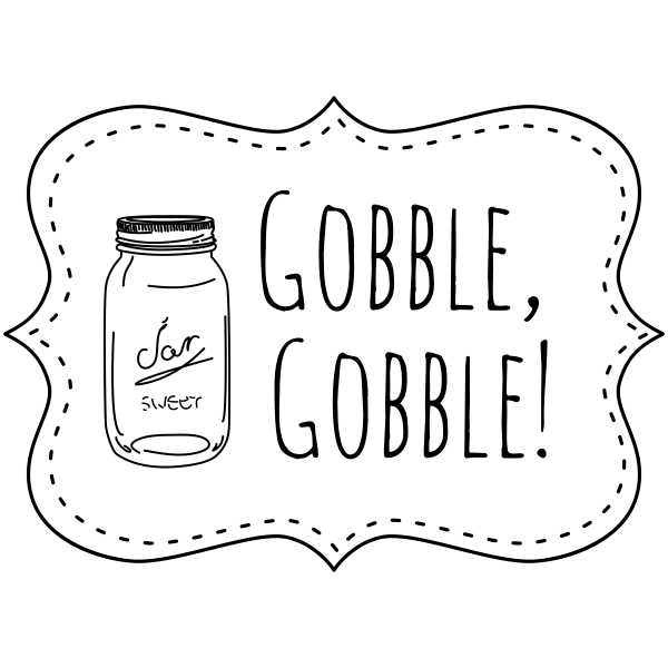 Gobble Gobble! Mason Jar Craft Stamp