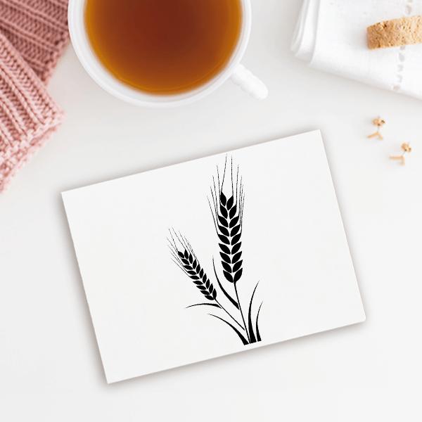 Corn Stalk Craft Stamp Imprint Example