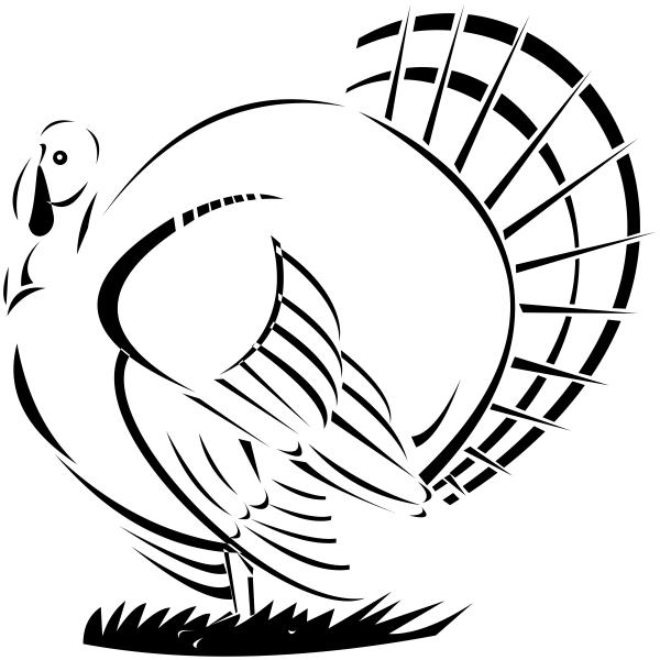 Retro Male Turkey Craft Stamp