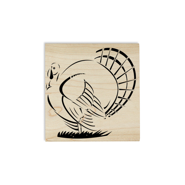Retro Male Turkey Craft Stamp Body and Design
