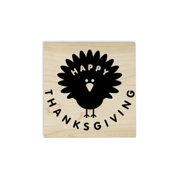 Happy Thanksgiving Turkey Craft Stamp Body and Design