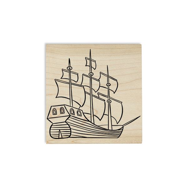 Mayflower Ship Craft Stamp Body and Design
