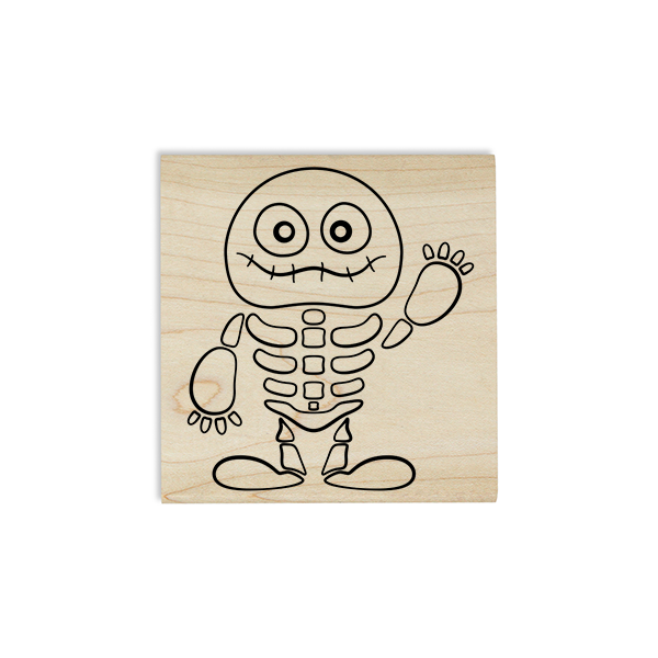 Cute Skeleton Mummy Craft Stamp Body and Design