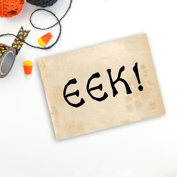 EEK! Halloween Craft Stamp Imprint Example