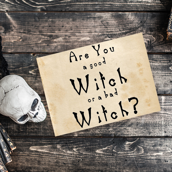 Are You a Good Witch or a bad Witch? Craft Stamp Imprint Example