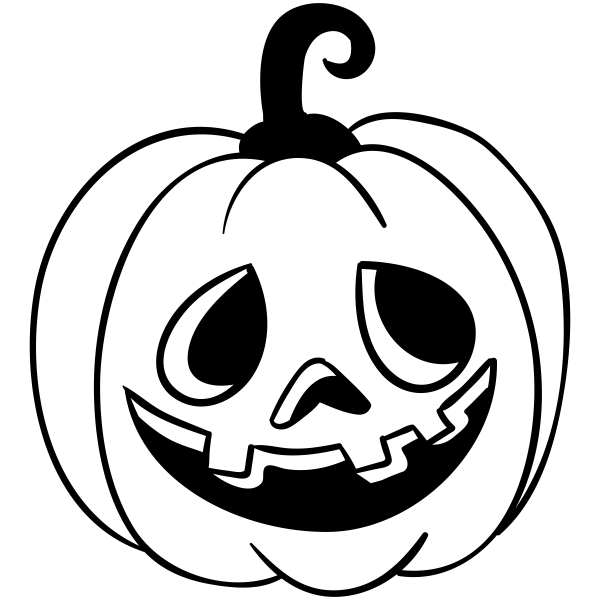 Mr. Goofy Jack O' Lantern Craft Stamp
