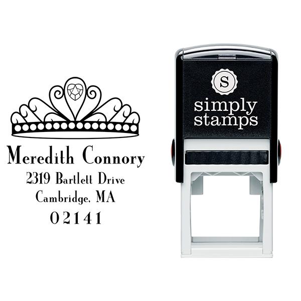 Princess Crown Return Address Stamp Body and Design