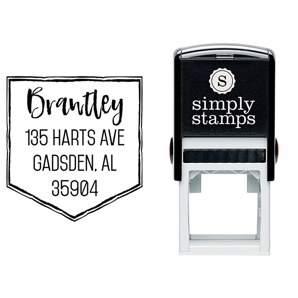 Brantley Banner Address Stamp Body and Design