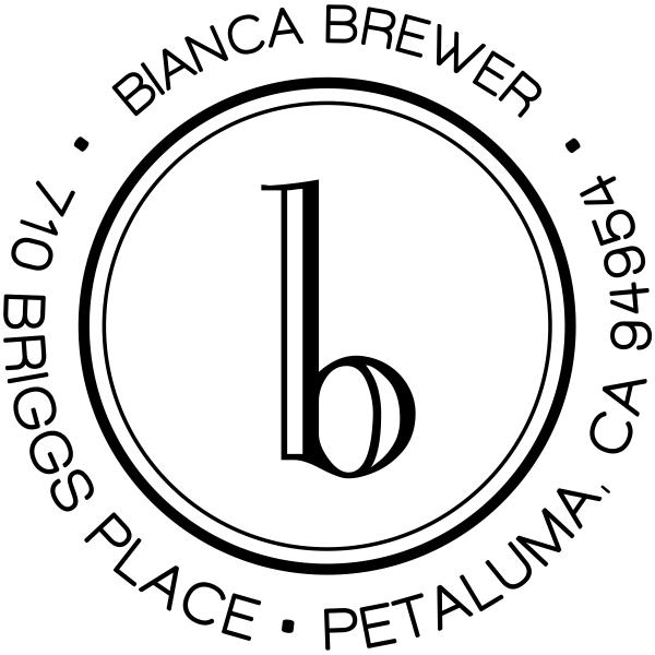 Brewer Minimalist Address Stamp