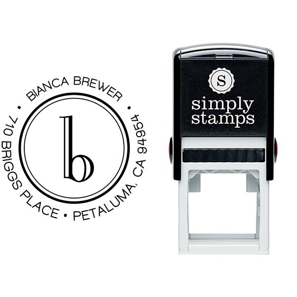 Brewer Minimalist Address Stamp Body and Design