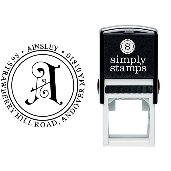 Ainsley Embellished Address Stamp Body and Design