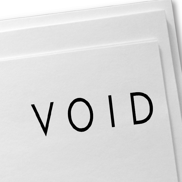 VOID Stock Stamp Imprint Example on Paper