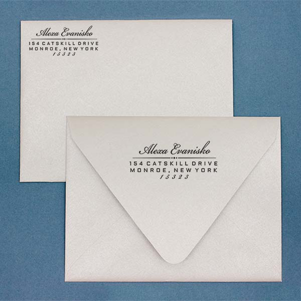 Alexa Return Address Stamp Imprint Example