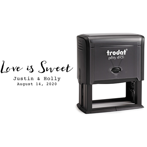 Love is Sweet Wedding Couple Rubber Stamp Body and Design