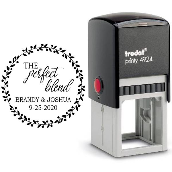 The Perfect Blend Wedding Date Stamp Body and Design