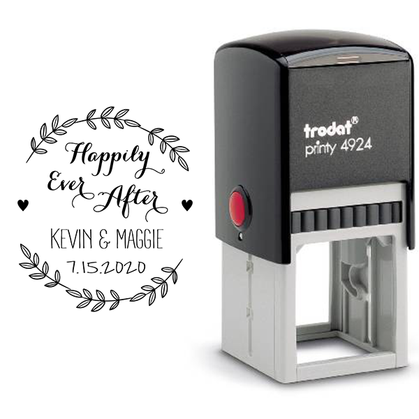Happily Ever After Wedding Stamp Body and Design