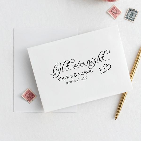 Light up the Night Wedding Stamp Imprint Example