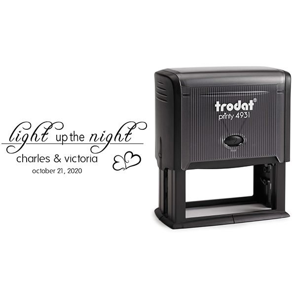 Light up the Night Wedding Stamp Body and Design