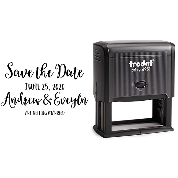 Save the Date Announcement Rubber Stamp Body and Design