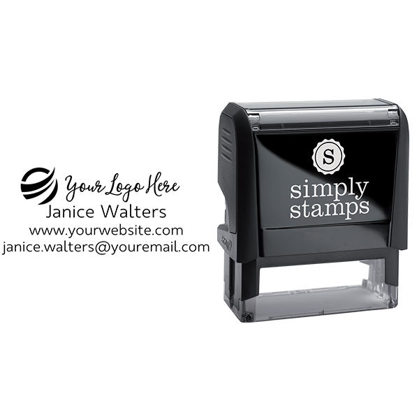 Your Custom Logo Rectangle Stamp Body and Design