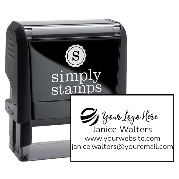 Your Custom Logo Rectangle Stamp