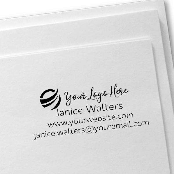 Your Custom Logo Rectangle Stamp Imprint Example