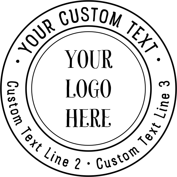 Double Ring Custom Logo Round Stamp Imprint