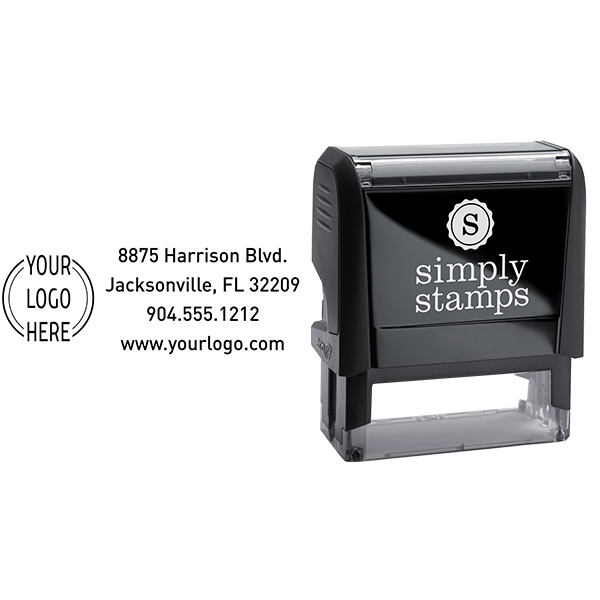 Double Ring Rectangle Logo Stamp Body and Design