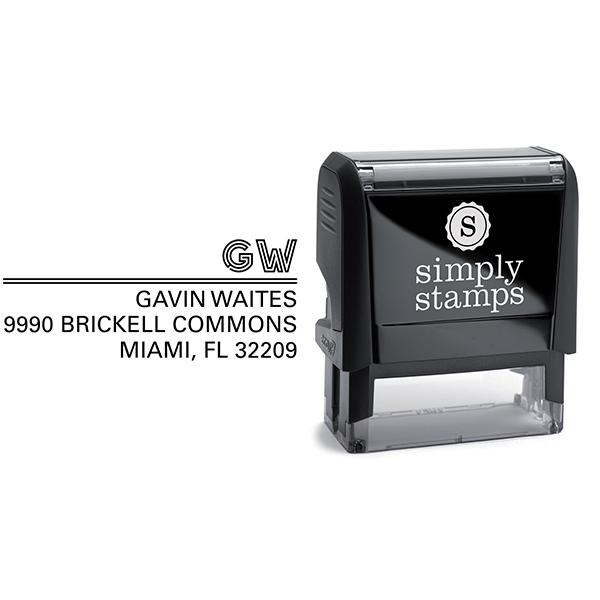 Gavin Graphic Address Stamp Body and Design